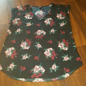Express short sleeve blouse
